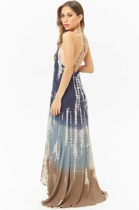 Forever 21 Boho Me Tie-Dye High-Low Maxi Dress