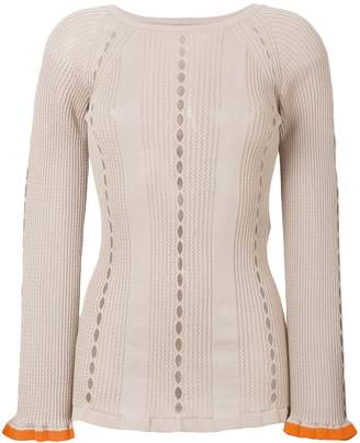 Fendi contrast cuff sweater