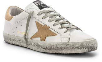 Golden Goose Superstar Sneaker in White & Sand | FWRD