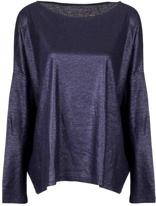 Majestic Filatures Metallic Jersey Over T-shirt