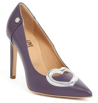 Love Moschino Heart Applique Stiletto Pump