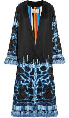 Etro Tasseled Embroidered Silk-Twill Jacket