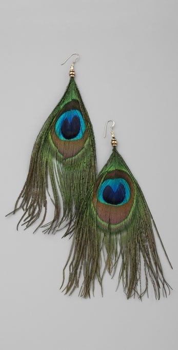 Alex And Ani Peacock Feather Earrings