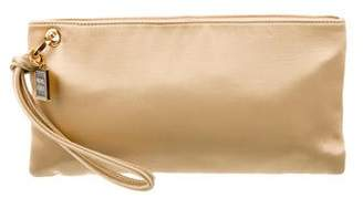 Herve Leger Satin Zip Clutch