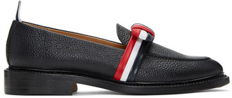 Thom Browne Black & Tricolor Bow Loafers $1,095 thestylecure.com