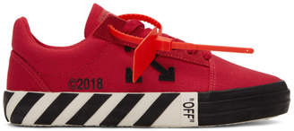 Off-White Off White Red Striped Vulcanized Sneakers