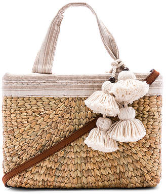 JADEtribe Sabai Mini Square Basket with Leather Handle