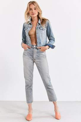 A Gold E AGOLDE Riley High-Rise Cropped Jean – Vanished