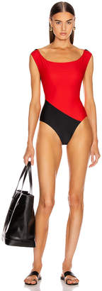 Isabella Collection Sebastien Swimsuit in Red & Black | FWRD