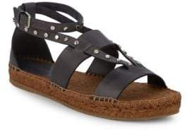 Jimmy Choo Vachetta Studded Leather Espadrille Sandals