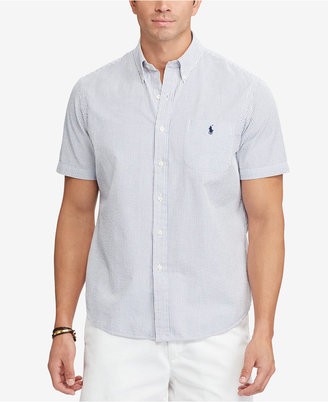 Polo Ralph Lauren Men's Big & Tall Short-Sleeve Cotton Seersucker Shirt $89.50 thestylecure.com