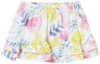 Benetton Ruffle Hem Skirt AO Floral Print