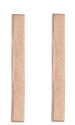 Jennifer Meyer Long Bar Stud Earrings - Rose Gold