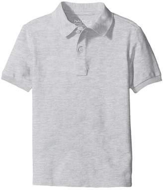 Nautica Husky Short Sleeve Pique Polo Boy's Short Sleeve Pullover