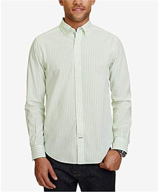 Nautica Men's Long Sleeve Vertical Stripe Button Down Shirt