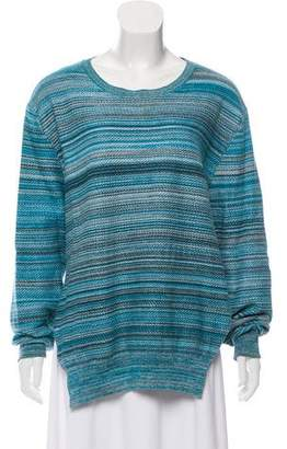 Baja East Patterned Knitted Sweater
