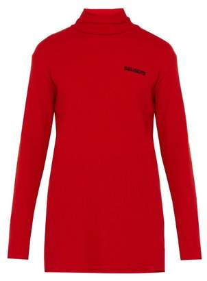 Vetements Oversized Ribbed Wool Blend Roll Neck - Mens - Red