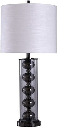 Stylecraft Style Craft 35In Black Nickel Table Lamp