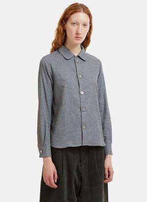 École de Curiosités Benjamin Round Collar Melton Shirt