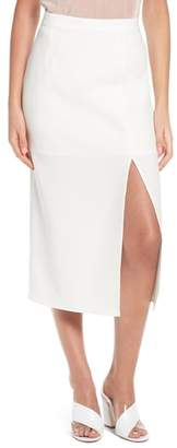 WAYF Brady Satin Midi Skirt