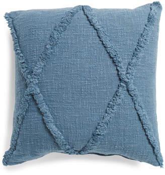 20x20 Linen Look Tufted Pillow