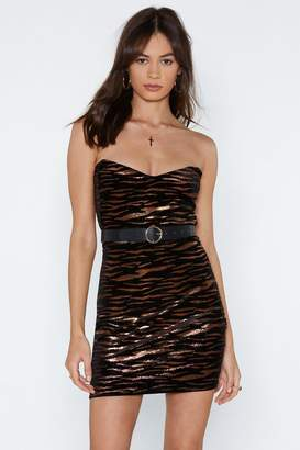 Nasty Gal Tiger Tiger Burning Bright Bandeau Dress