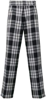 Gosha Rubchinskiy checked trousers