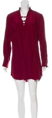 David Lerner Silk Mini Dress