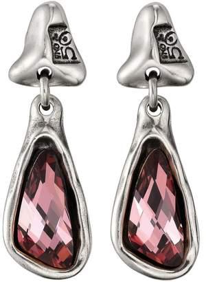 Uno de 50 Fabulous Lampost Organic Swarovski Drop Earrings
