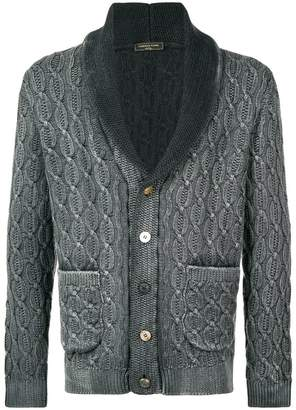 Gabriele Pasini cable knit shawl collar cardigan