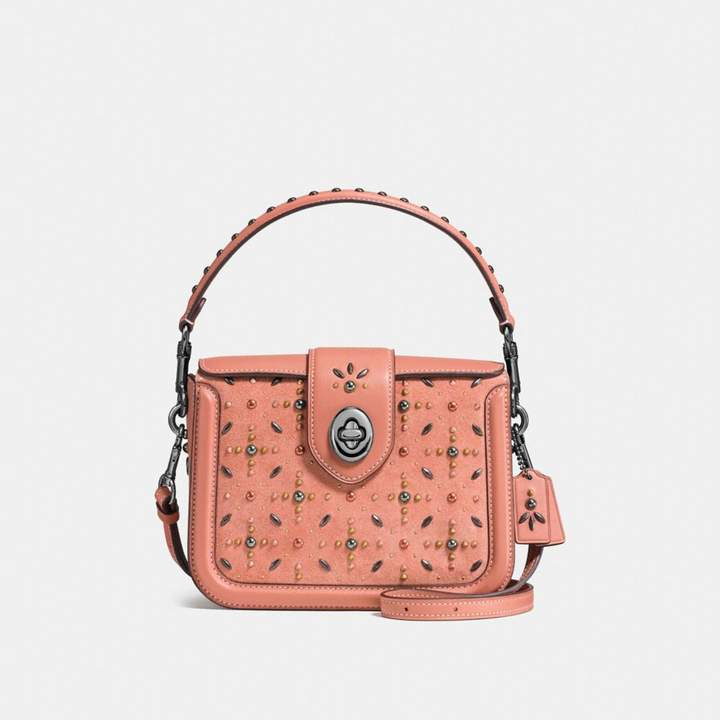 Coach New YorkCoach Page Crossbody With Prairie Rivets - MELON/DARK GUNMETAL - STYLE
