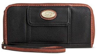Bolo Women's Faux Leather Wristlet Wallet with Back/Interior Compartment and Zipper Closure - Black/Chocolate $14.99 thestylecure.com