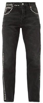 Martine Rose Studded Straight Leg Jeans - Womens - Black