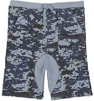 Haus of JR Kids' Howard Pixelated-Camouflage Cotton Shorts