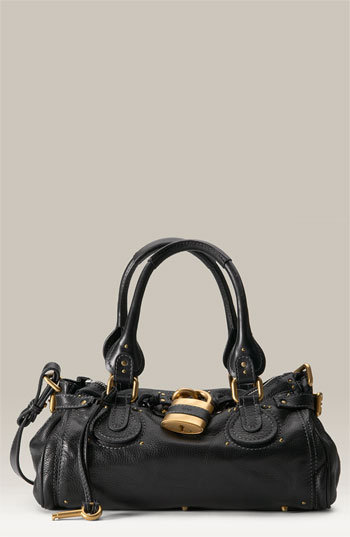 Chloé 'Paddington' Leather Padlock Satchel