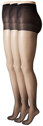 033a3ea336c242 Hue So Silky Sheer Control Top Pantyhose (3-Pack)