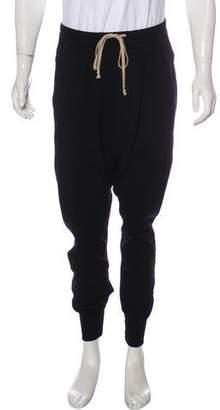 Rick Owens Drop-Rise Knit Joggers