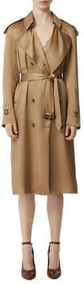 Burberry Silk Satin Dressed Trench Coat