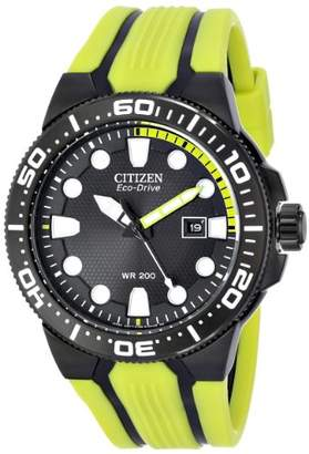 "Citizen Men's BN0095-16E Eco-Drive ""Scuba Fin"" Yellow and Dive Watch"