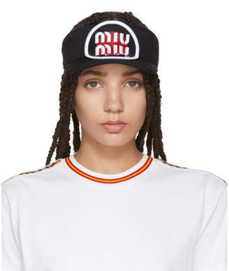 Miu Miu Black Patch Visor