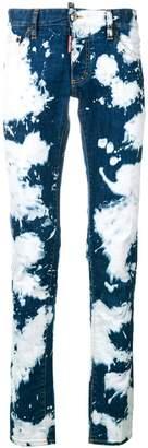 DSQUARED2 paint splatter jeans