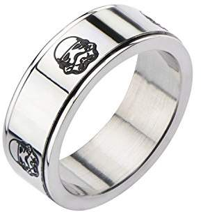 Star Wars Jewelry Stromtrooper Stainless Steel Men's Spinner Ring