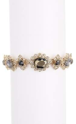 Marchesa Crystal Cluster Link Bracelet