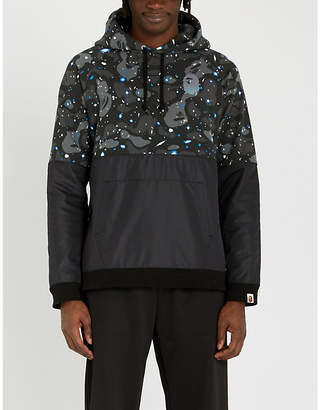 f968b0771fb7 A Bathing Ape Space Camouflage cotton-jersey and shell hoody