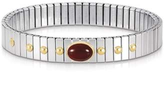 Nomination Stainless Steel & 18K Yellow Gold Red Agate Extension Bracelet
