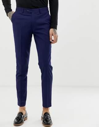 Gianni Feraud slim fit perfect navy wool blend suit pants