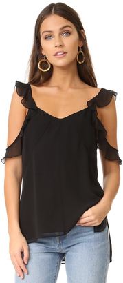 Elizabeth and James Cheryl Ruffle Top $275 thestylecure.com