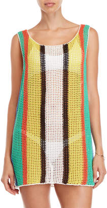 Diane von Furstenberg Open Knit Tank Cover-Up Dress