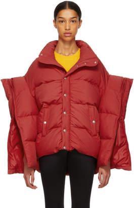 Junya Watanabe Red Down Oversized Puffer Jacket