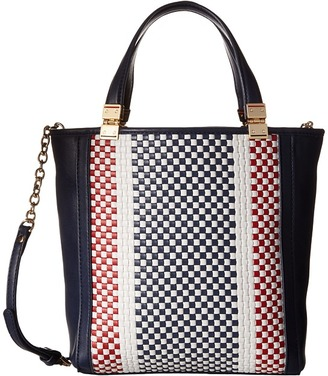 Tommy Hilfiger Hinge - Woven/Smooth Small Convertible North/South Shopper $108 thestylecure.com